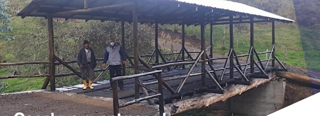 Concluye construcción del puente en el sector de Ganzhún