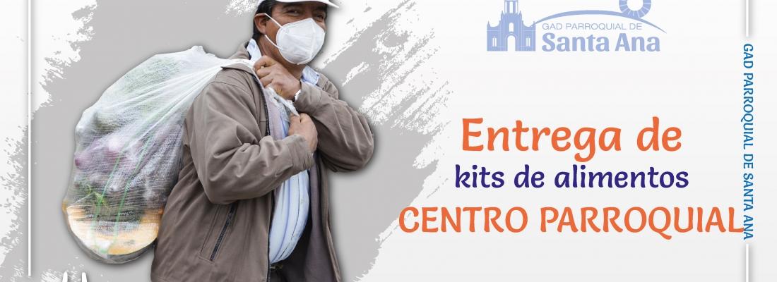 Entrega de Kits alimenticios Centro Parroquial