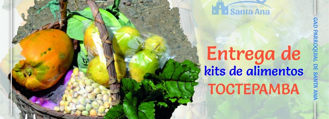 Entrega de Kits alimenticios Toctepamba